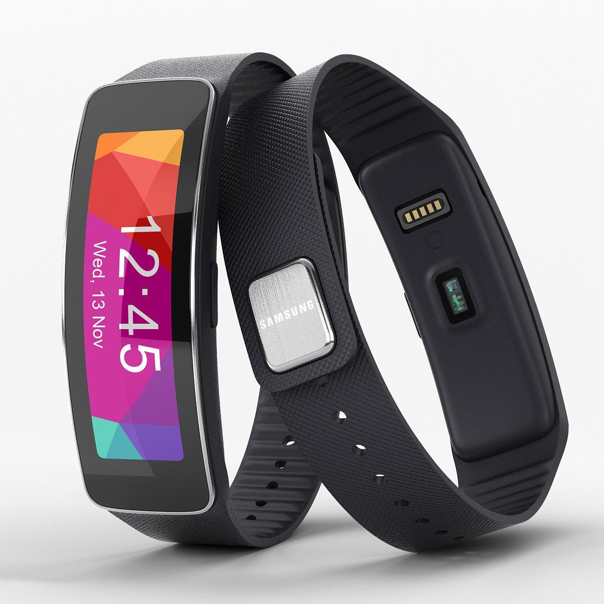 Samsung Galaxy Gear Fit Montre connectée SM-R350, Noir (Import Asia): Amazon.fr: High-tech