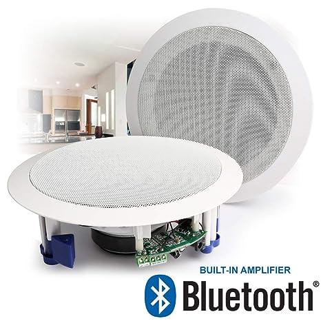 Power Dynamics Wireless Streaming Bluetooth Ceiling Mount Speakers Built In Amplifier 8 60w