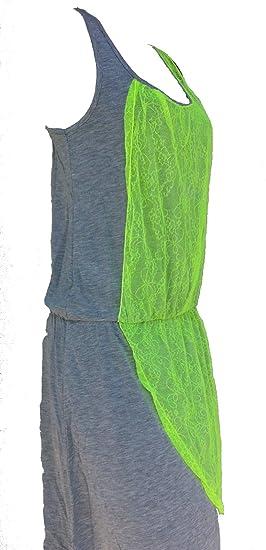 610992920d5561 Damen Sommerkleid Feierkleid Freizeitkleid Sportkleid Partykleid - Baumwolle  (L) Grün: Amazon.de: Bekleidung
