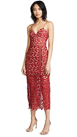 7ab34838590 Amazon.com  Self Portrait Women s Dark Red Arabella Dress  Clothing