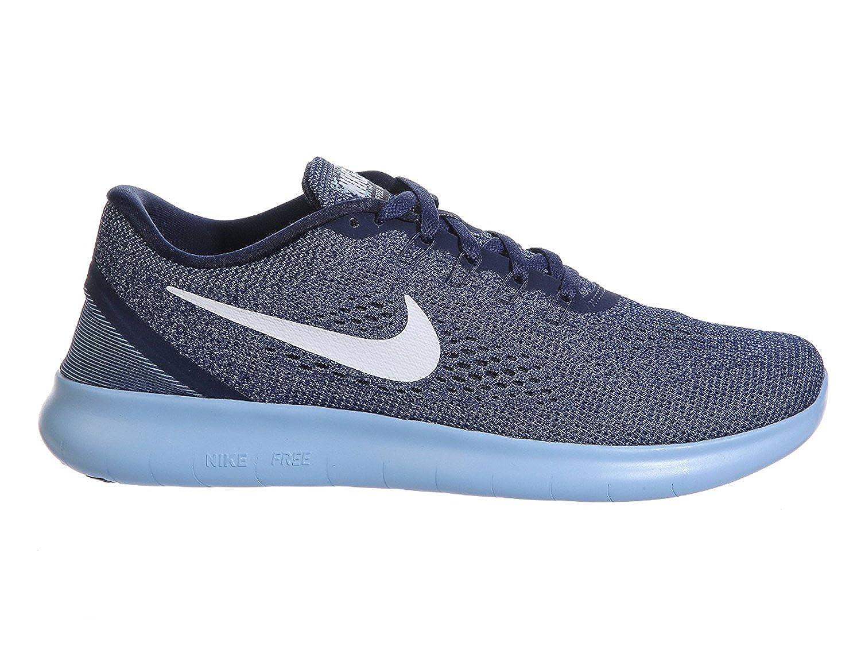 Scarpe da corsa da uomo Nike Free RN Midnight Navy / bianche / Bluecap / blu in nylon tinta 12 M US