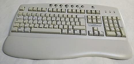Logitech blanco PS2 Teclado sueco