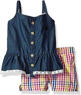 U.S Girls Peplum Tank Top and Twill Short Polo Assn