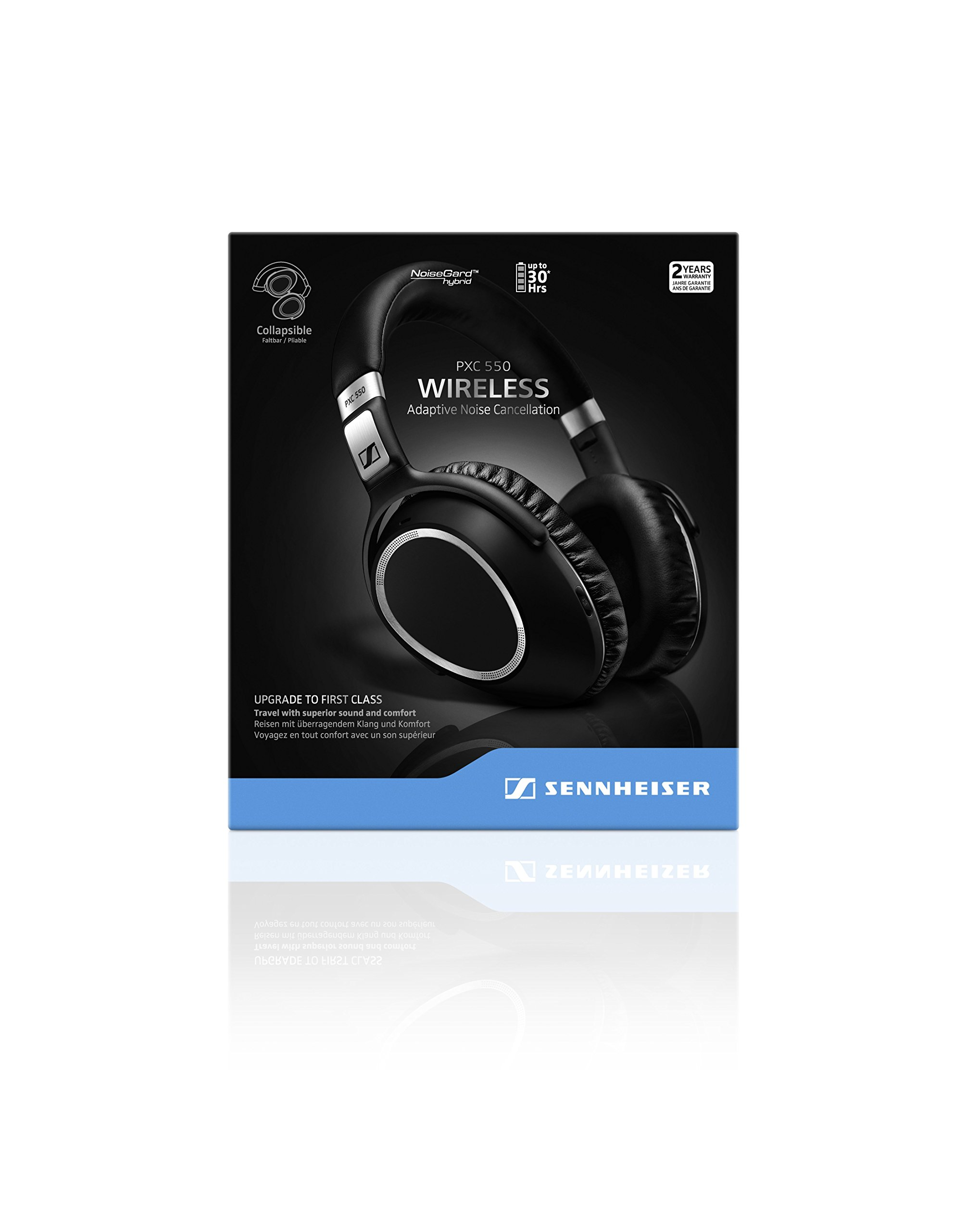 Sennheiser PXC 550 Wireless – NoiseGard Adaptive Noise Cancelling, Bluetooth Headphone with Touch Sensitive Control and 30-Hour Battery Life by Sennheiser (Image #8)