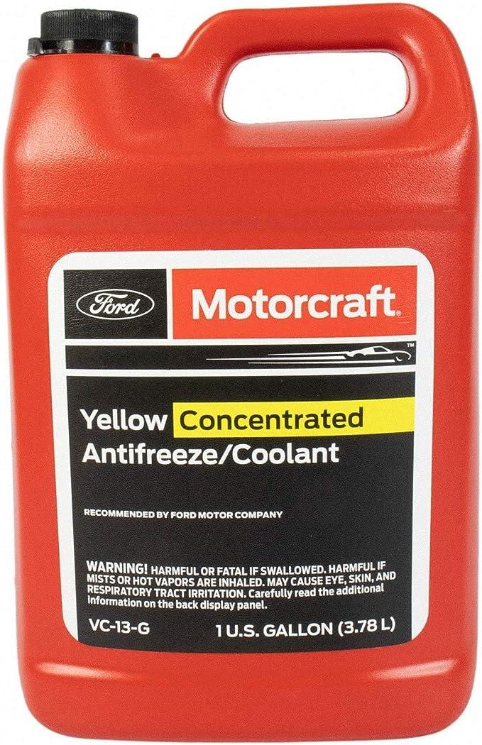 Amazon Com Genuine Ford Fluid Vc 13 G Yellow Concentrated Antifreeze Coolant 1 Gallon Automotive