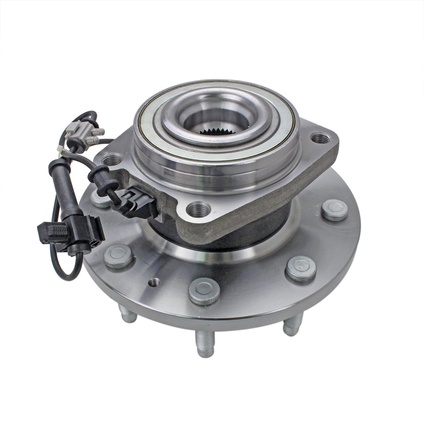 CRS NT620303 New Wheel Bearing Hub Assembly, Front Driver (Left)/ Passenger (Right), for 2011-2016 Chevy Silverado 2500 (HD)/ 3500HD, GMC 2011-2015 Sierra 3500/2011-2016 2500 (HD), 4WD by CRS