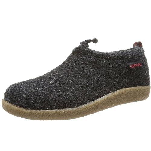 c90e431bb6a91d Giesswein Unisex Adults  Vent Slippers Black Size  3 UK
