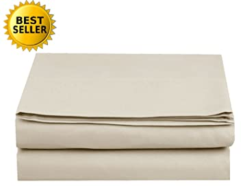 amazon queen cream luxury flat sheet elegant comfort wrinkle