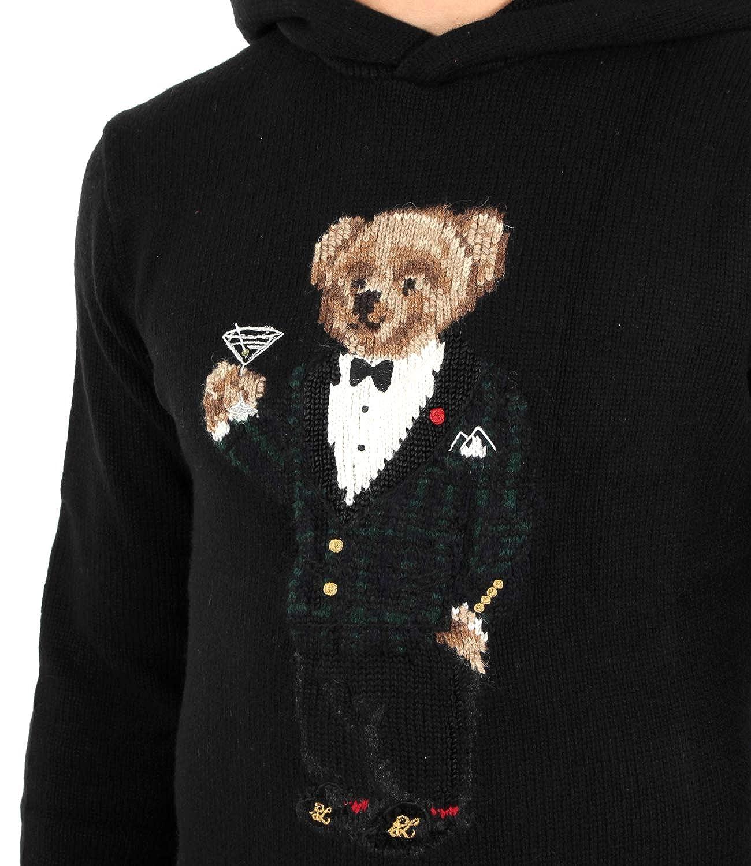 Polo Ralph Lauren Maglia Martini Bear con Cappuccio Uomo Mod ...