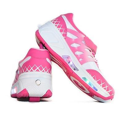 Usay like Envio 24H Zapatillas con Ruedas Color Rosa White Para Niña Chica Talla 30 Hasta