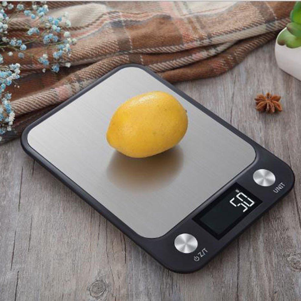 lerda pe Digital Kitchen Scale 10kg Mini balanzas electrónicas con Pantalla LCD, baterías operadas, Negro: Amazon.es