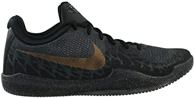 ba5cc0336f8f Nike Men s Mamba Rage Basketball Shoes Black Metallic Gold Anthracite Size  7.5 ...