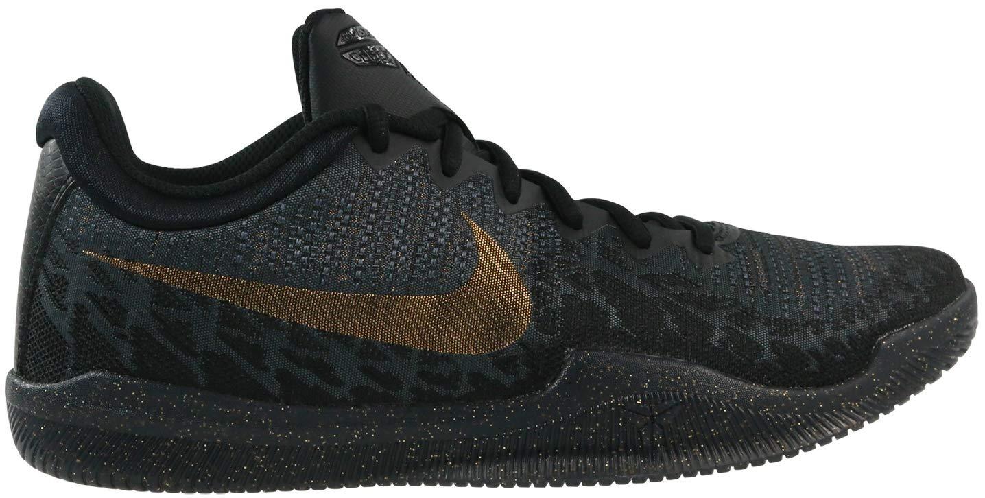 Nike Men's Mamba Rage Basketball Shoes Black/Metallic Gold/Anthracite Size 7.5 M US