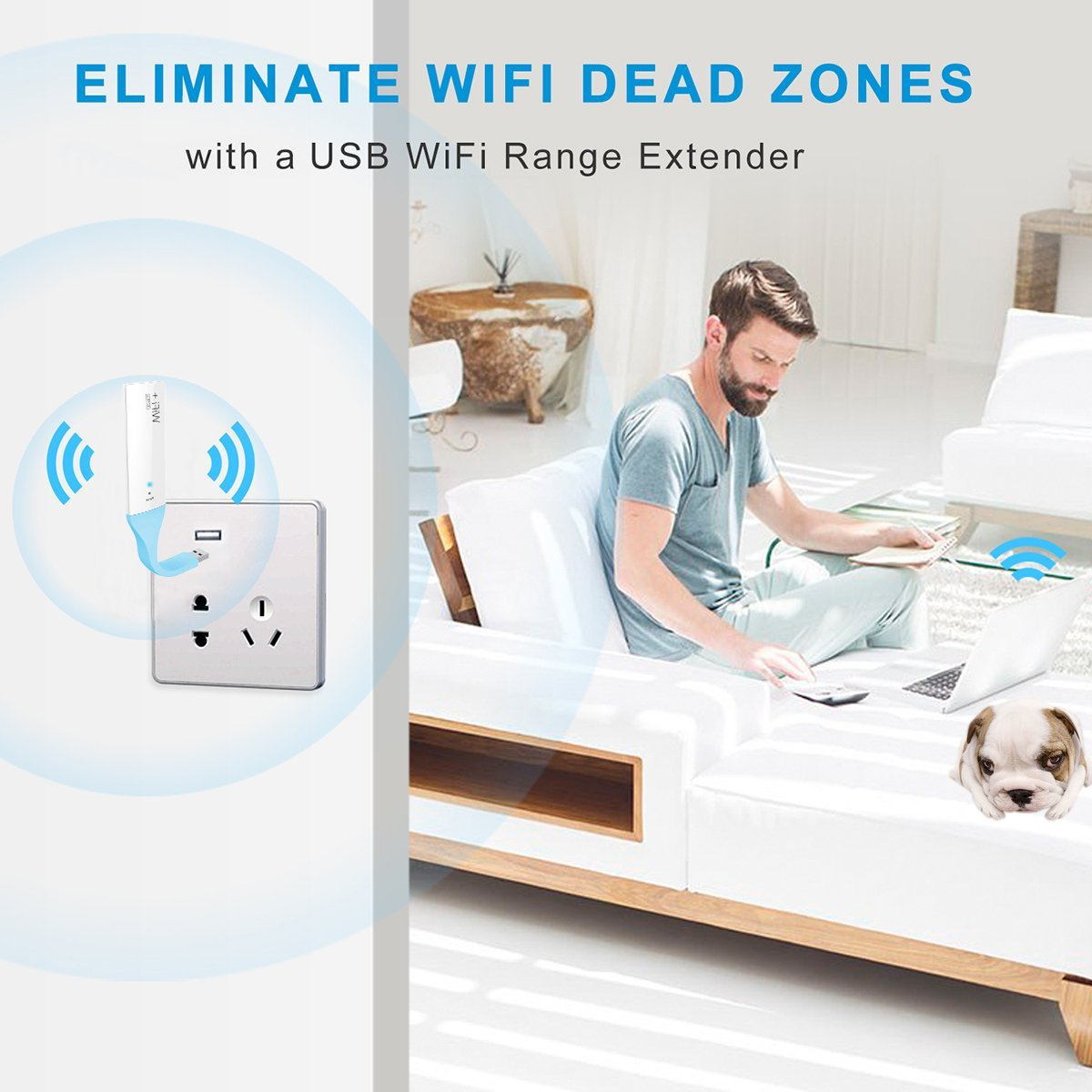 Amazon.com: WiFi Range Extender Astarye 300Mbps 180° Rotatable WiFi Booster USB Portable Wireless Repeater Router Signal Booster: MP3 Players & Accessories