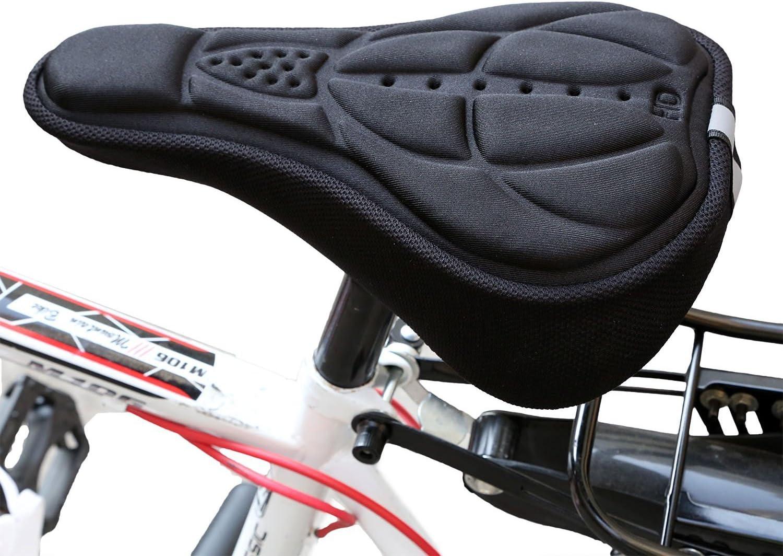 Mountain Bike Radfahren labego Sattel Kissen Bike Fahrrad Komfort 3D Silikon Gel Sitz Sattel Kissenbezug Kissen Pad Schutzh/ülle f/ür Mann Frauen Kind Fahrrad Sattel Universal