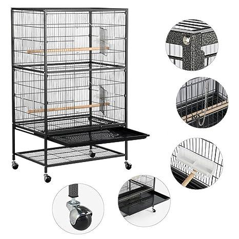 Popamazing - Jaula para aves desmontable con soporte y patas ...