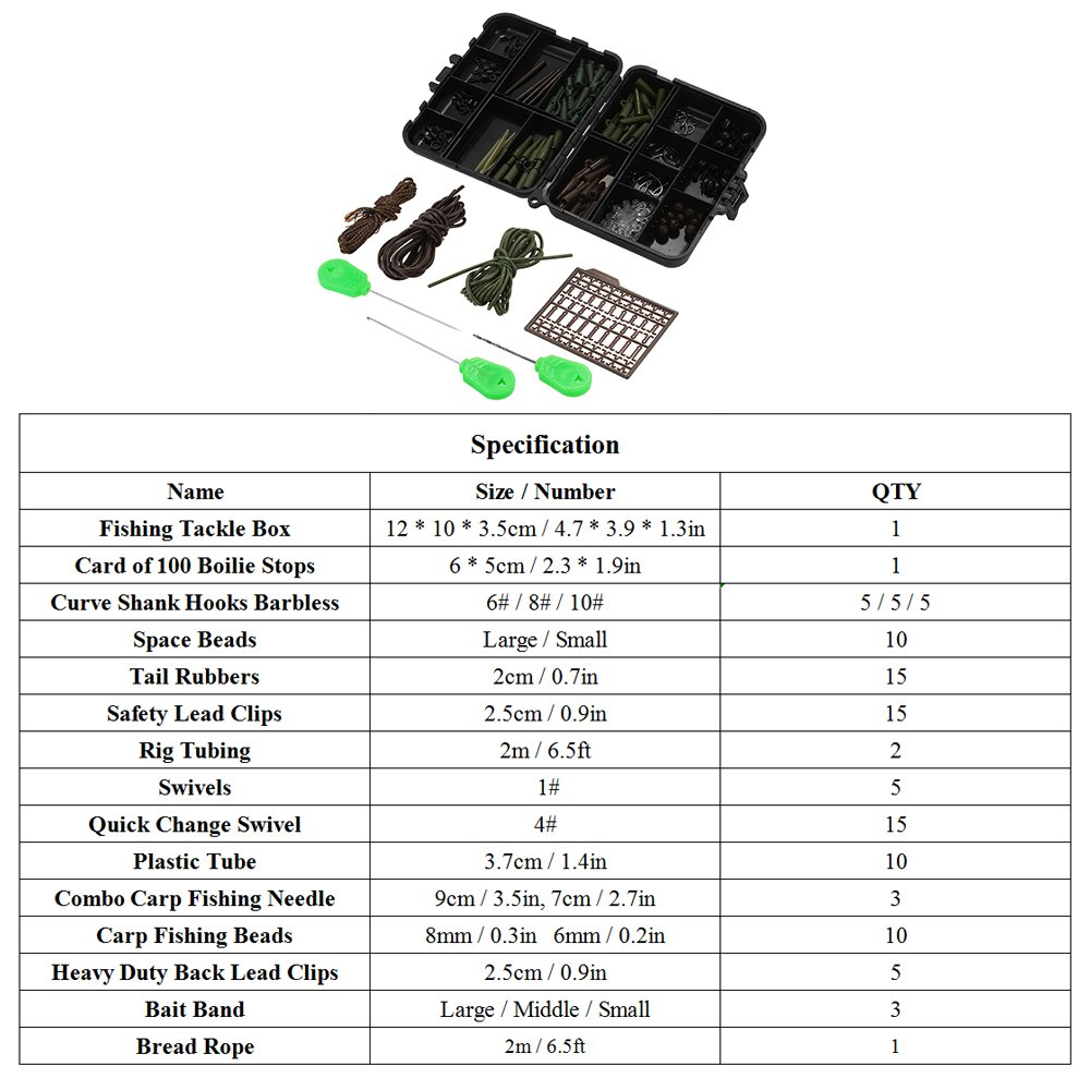 Angelsport Backlead clips and rubbers for carp fishing x 1000 of each.