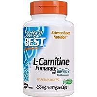 海外直送品 Doctors Best Best L-carnitine Fumarate, 60vc 855 mg