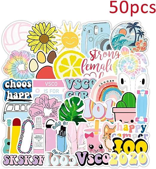 VSCO Starter Pack Girl Stuff – Pegatinas VSCO, Coleteros de terciopelo, bolso de lona para cosméticos, gargantilla de concha, pulseras de la amistad y