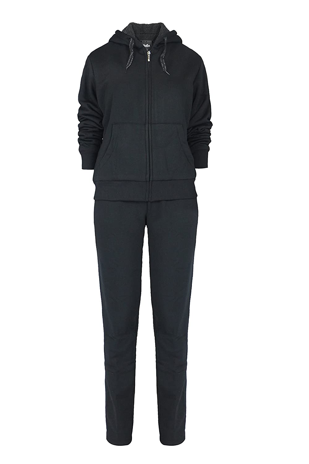 4f1b1613ad12c Full zip-front hoodie jacket  Kangaroo center front hand warmer pockets  A  wide comfortable elastic waistband sweatpants with easy adjustable drawsting