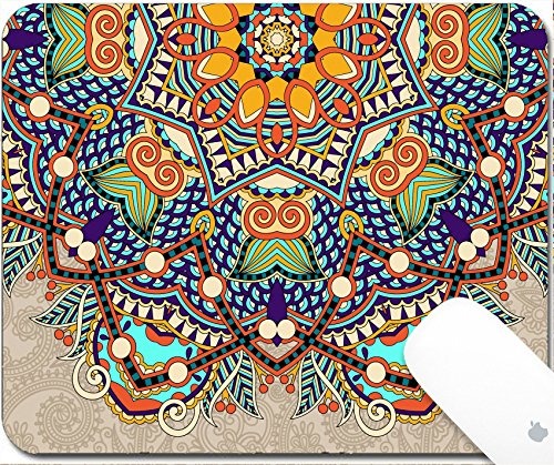 pad 9.25in X 7.25in IMAGE: 33055322 floral round pattern in ukrainian oriental ethnic style for your greeting card or invitation template design for card vintage lace doily vecto (Doily Lace Labels)