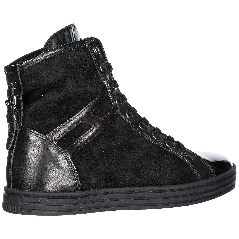 Hogan Damenschuhe Damen Rebel Leder Schuhe High Turnschuhe Rebel Damen r182 cinturino Schwarz EU 36.5 HXW1820D66179NB999 376341