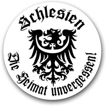 Aufkleber Sticker Schlesien Wappen Heimat Unvergessen Militär 7x7cm A1847 Auto