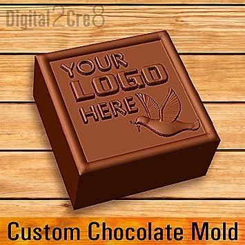 Molde personalizado para chocolate con logotipo personalizado de silicona.: Amazon.es: Hogar