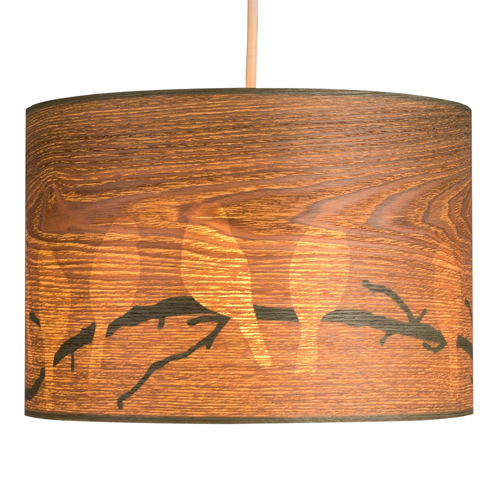 Brand-new Large Modern Bird and Branch Silhouette Wood Veneer Effect Ceiling  GG23