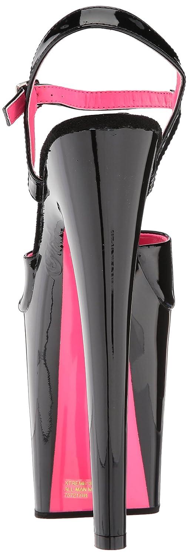 Pleaser Women's Xtreme-809tt Sandal B074G49X9T 8 B(M) US|Black Pat-wht Pink/Black