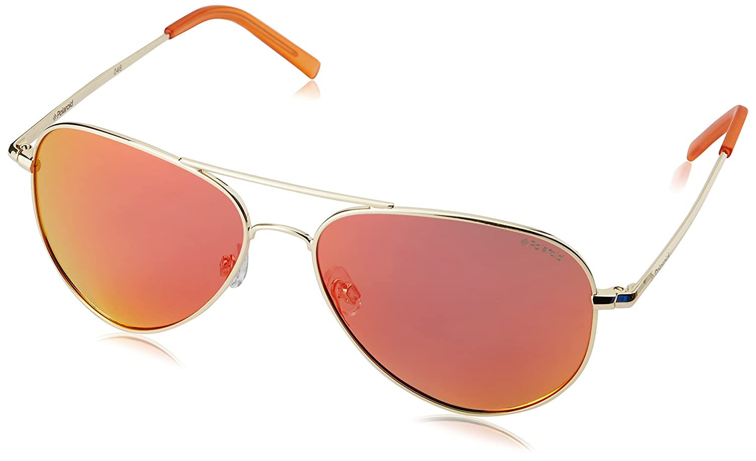 Polaroid PLD 6012/N OZ J5G Gafas de sol, Dorado (Gold/Red Grey Speckled Pz), 56 Unisex Adulto