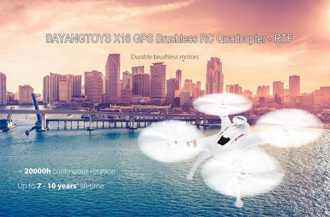boyiya bayangtoys X16 GPS sin escobillas RC Quadcopter RTF ...