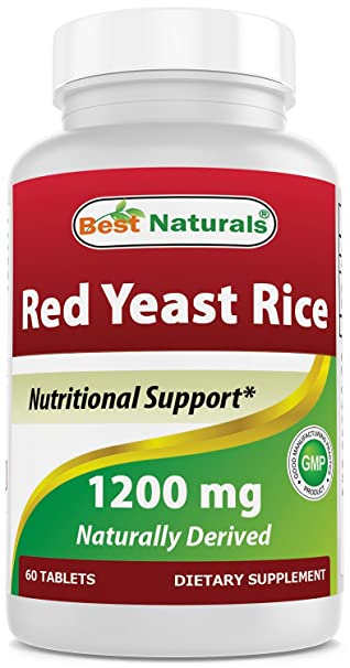 Amazon.com: Best Naturals Red Yeast Rice 1200 Mg Tablet for Healthy Cholesterol Level, 60 Count: Health & Personal Care