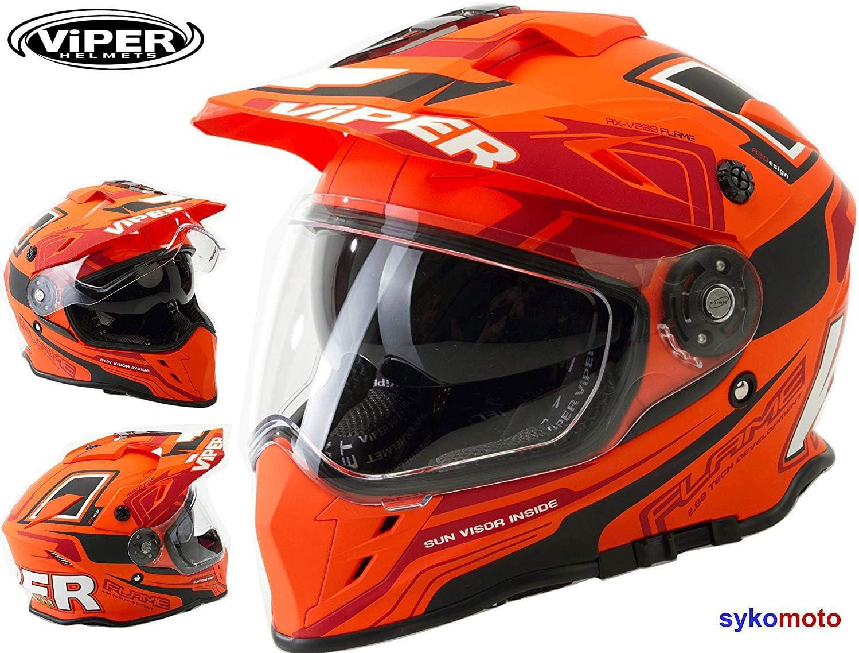 Viper Rx-v288/Dual Sport Double Visi/ère Enduro casque