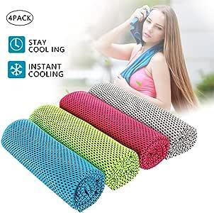 4 toallas de refrigeración, toalla de secado rápido, para golf ...