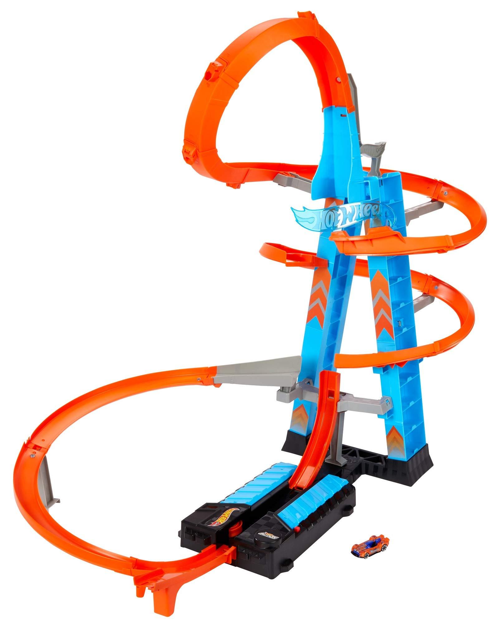 Hot Wheels Sky Crash Tower, track set