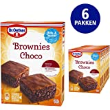 Dr. Oetker Chocolade Brownies bakmix (6x 360g multipack), mix bevat 6 porties