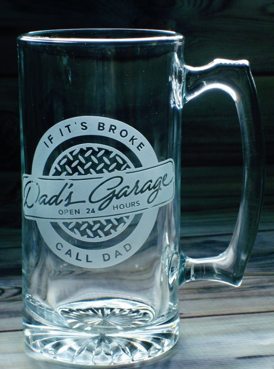 Dad's Garage Beer Stein Gift - If It's Broke Call Dad 27 oz Beer Mug