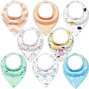 8-Pack YOOFOSS Baby Bandana Drool Bibs Unisex Gift Set