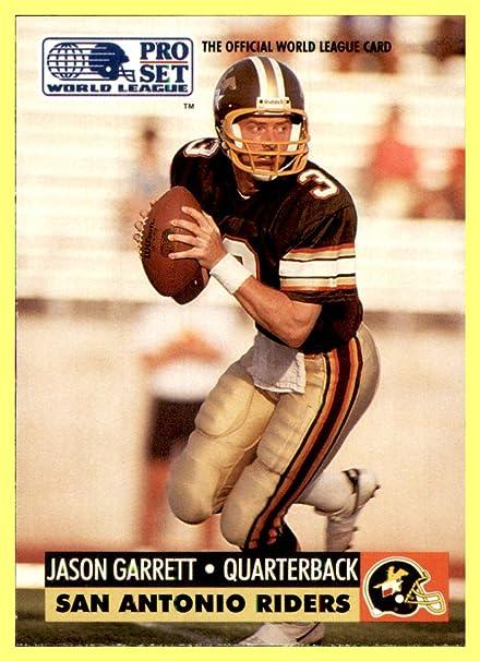 Cheap 1991 Pro Set WLAF World League Inserts #31 Jason Garrett QB SAN  for cheap
