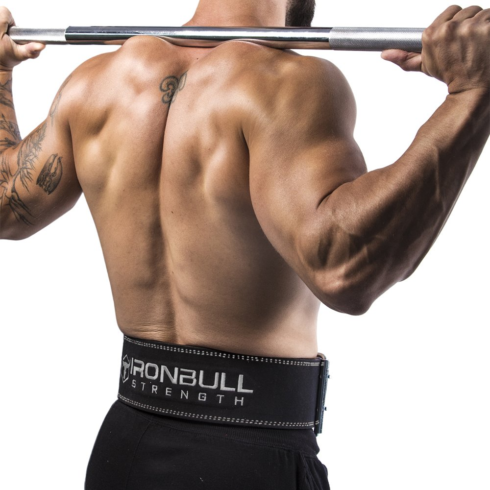 Iron Bull Strength Powerlifting Belt - 10mm Double Prong - 4-inch Wide - Heavy Duty for Extreme Weight Lifting Belt (All Black, Small) by Iron Bull Strength (Image #5)