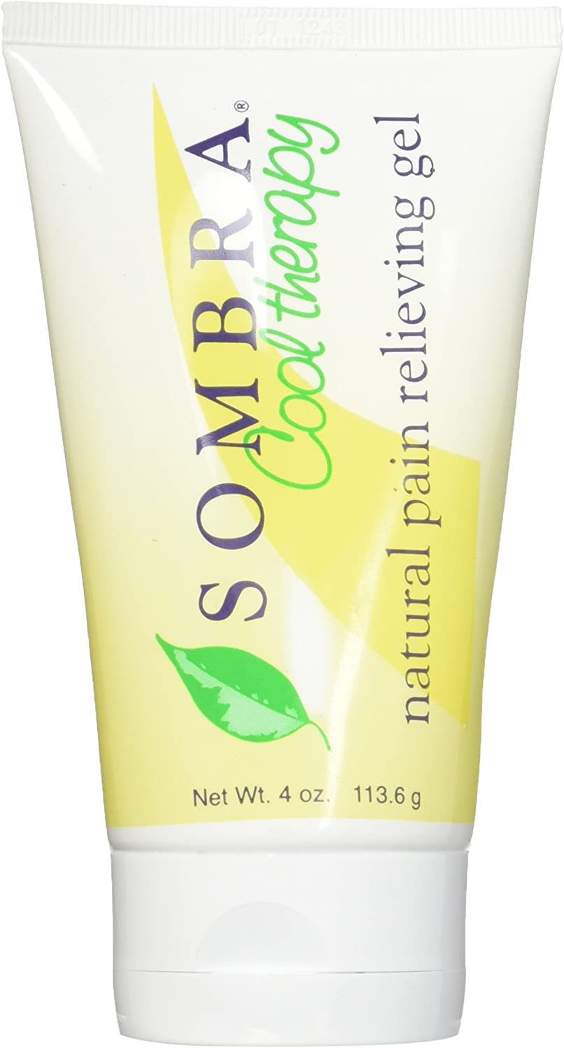 Sombra Cool Therapy Natural Pain Relieving Gel, 4 Ounce