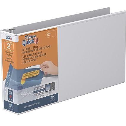 QuickFit 97110 - Archivador de hojas de visión de 2,54 cm ...