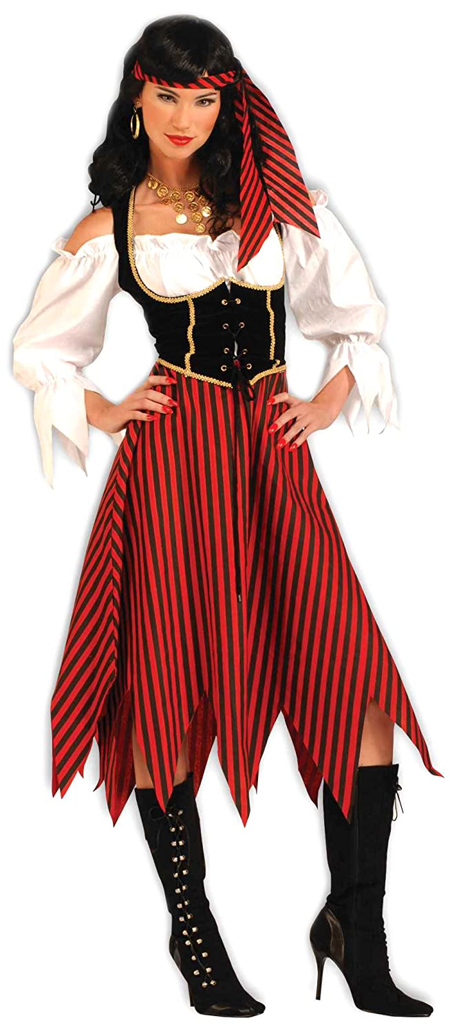 amazoncom forum novelties womens pirate maiden plus size costume multi colored standard x large clothing - Pirate Halloween Costumes Women