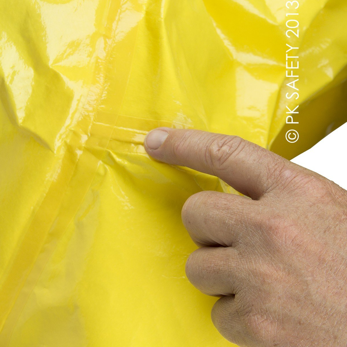 DuPont Personal Protection BR128TYL3X00 3X Yellow SafeSPEC 2.0 18 mil Tychem BR Chemical Protection Coveralls