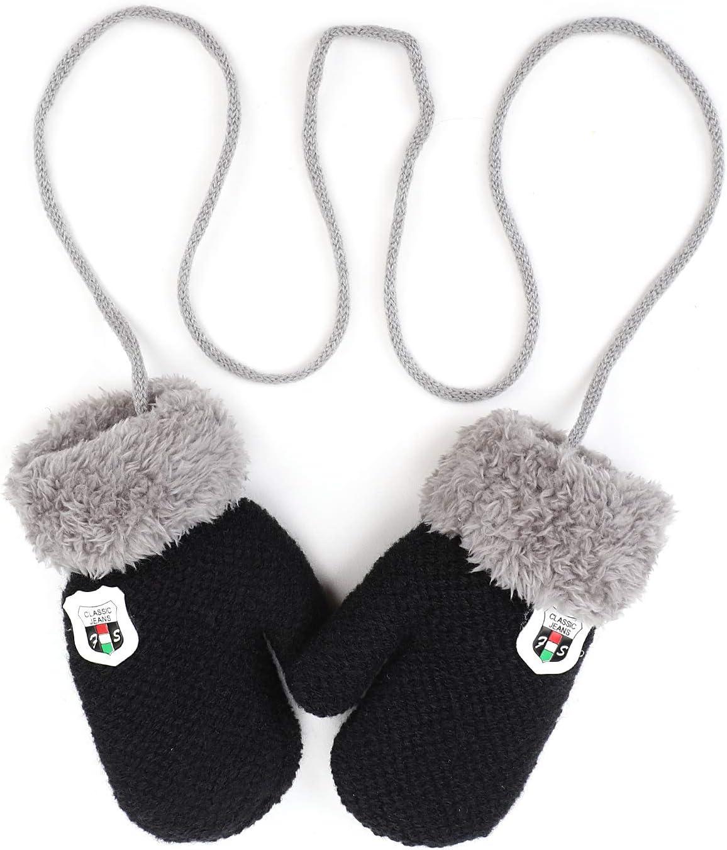 IBLUELOVER/ /2/&n /Manoplas ni/ños beb/é Chicas Chicos Guantes Invierno Guante de esqu/í Guantes de Punto Gloves Color Pure Guantes fr/íos Forro Polar Guantes con la Cuerda del Cuello Regalo Navidad 0/