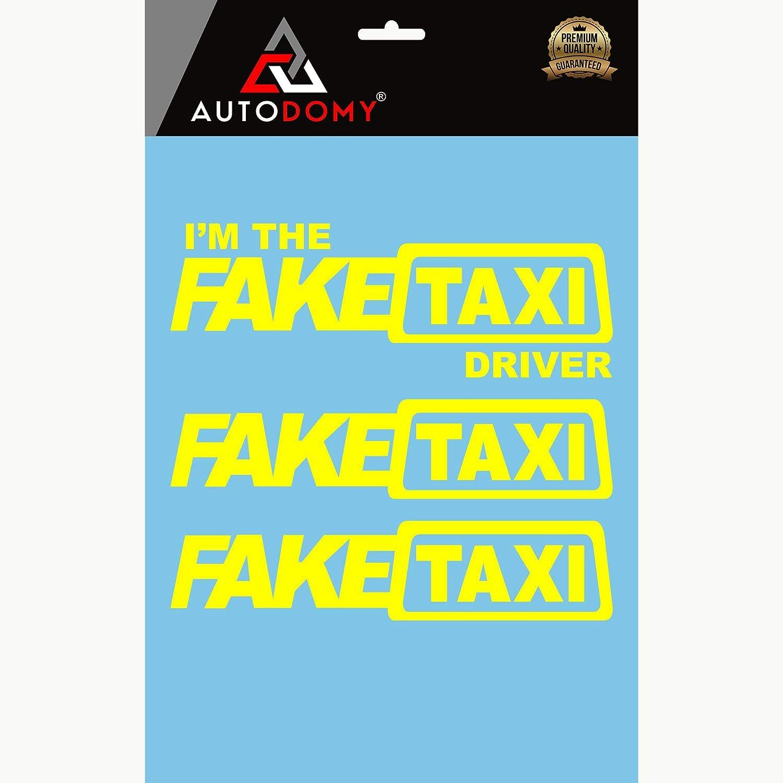 Autodomy Fake Taxi und Im The Fake Taxi Driver Aufkleber Paket 3 St/ück f/ür Auto oder Motorrad