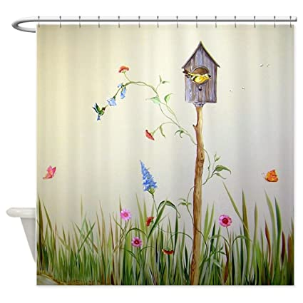 Amazon CafePress Birdhouse Decorative Fabric Shower Curtain 69