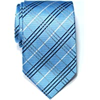 Retreez Tartan Plaid Check Styles Woven Microfiber Men's Tie Necktie - 10 Colors