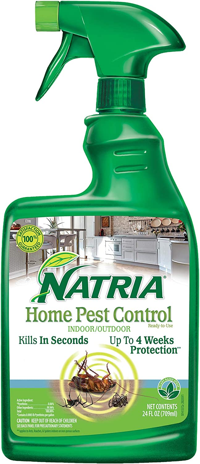 Natria 706260D Home Pest Control Effective Natural Insecticide, 24-Ounce